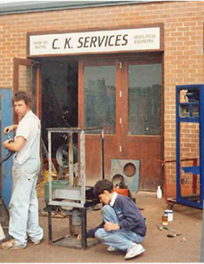 Company Director, Andy Smith – pictured helping out as a young apprentice.