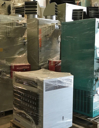 A number of industrial Heaters in stock and ready for installation.