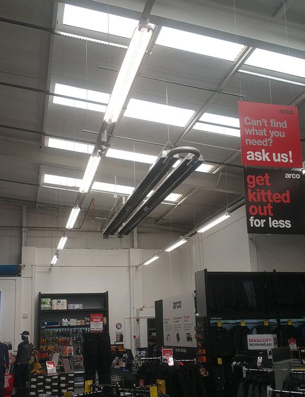 Radiant Tube Heater Retail Showroom Installation  U2013 Arco  Ellesmere Port