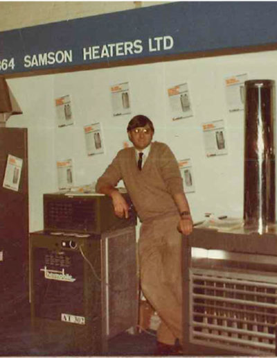CK Services 1990 Company Founder and Director Ken Smith, pictured at a trade show in the early 1980's.