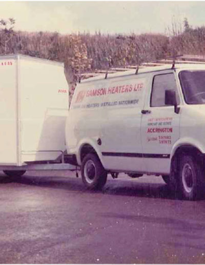 One of the fleet of Samson Heaters branded vans from the early 1980's.